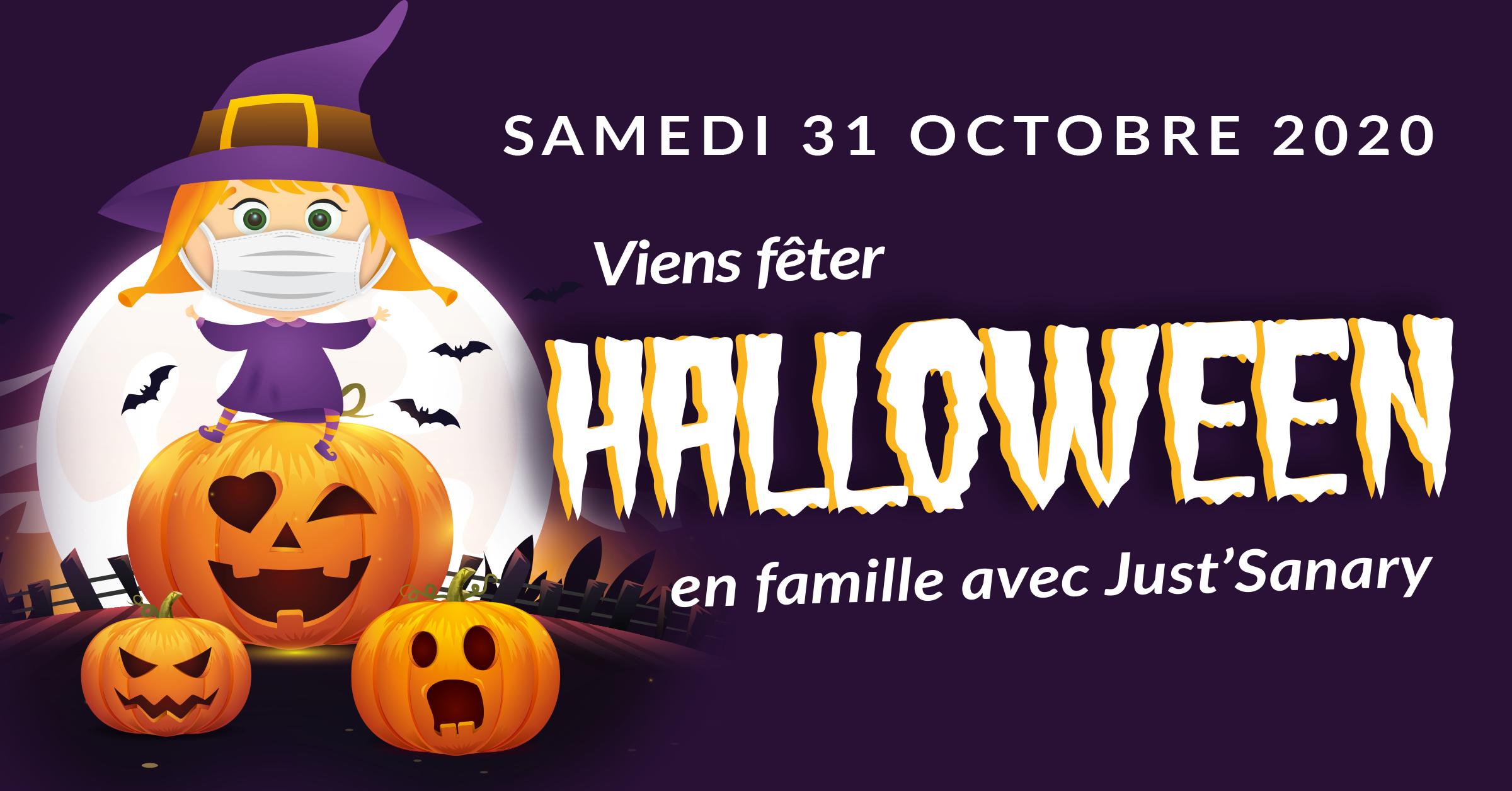 Bannière Halloween Just'Sanary 2020